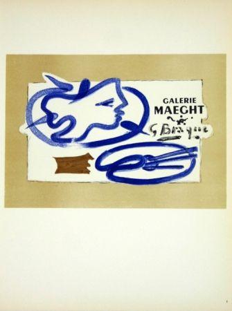 Litografia Braque - Galerie Maeght