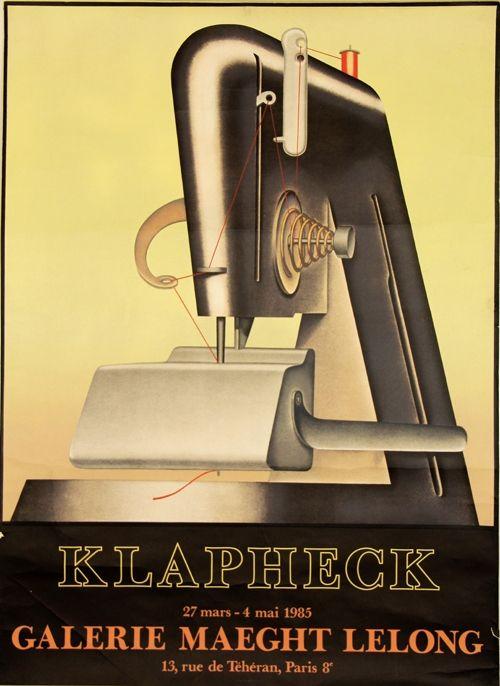 Litografia Klapheck - Galerie Maeght Lelong