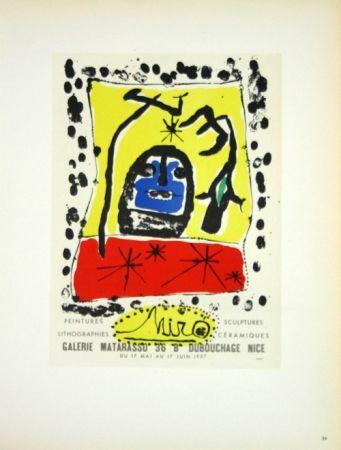 Litografia Miró - Galerie Matarasso Nice