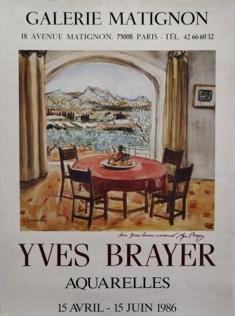 Manifesti Brayer - Galerie Matignon - 1986 - Aquarelles