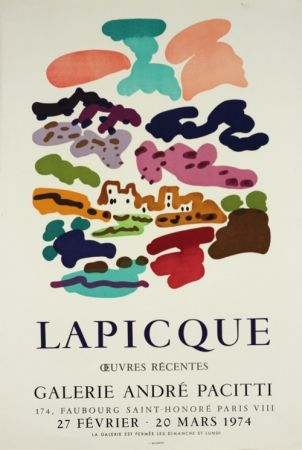 Litografia Lapicque - Galerie Pacitti