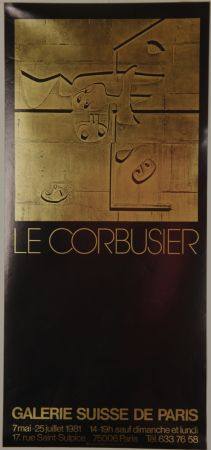 Litografia Le Corbusier - Galerie Suisse de Paris Juillet 1981