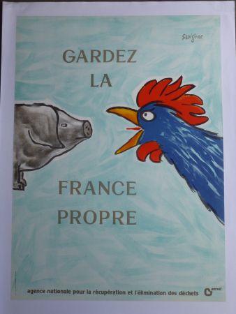 Manifesti Savignac - Gardez la France propre