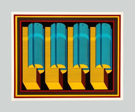 Serigrafia Sutej - Geometrico mobile (arancio)