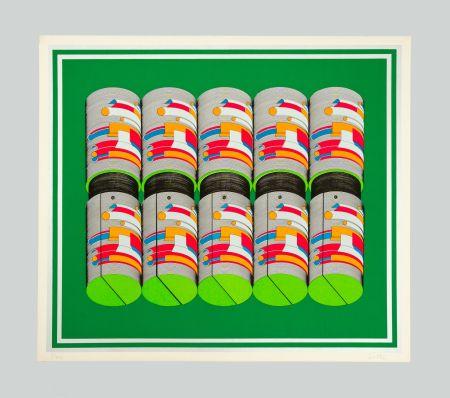 Serigrafia Sutej - Geometrico mobile (verde)