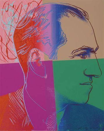 Serigrafia Warhol - George Gershwin (FS II.231) Trial Proof