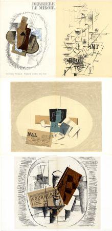 Libro Illustrato Braque - GEORGES BRAQUE. Papiers collés 1912-1914. Derrière le Miroir n° 138. Mai 1963.