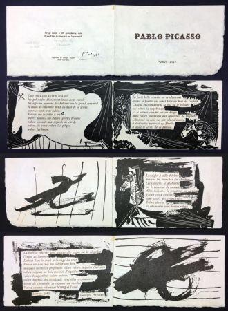 Libro Illustrato Picasso - Georges Hugnet : PABLO PICASSO (Paris, 1941).