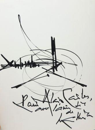 Non Tecnico Mathieu - Georges Mathieu (1921-2012). Encre et pinceau. Signé.