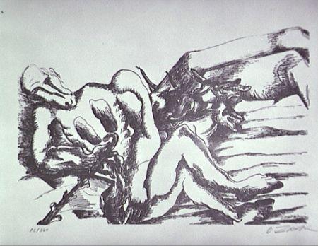 Litografia Zadkine - Gerion (a)
