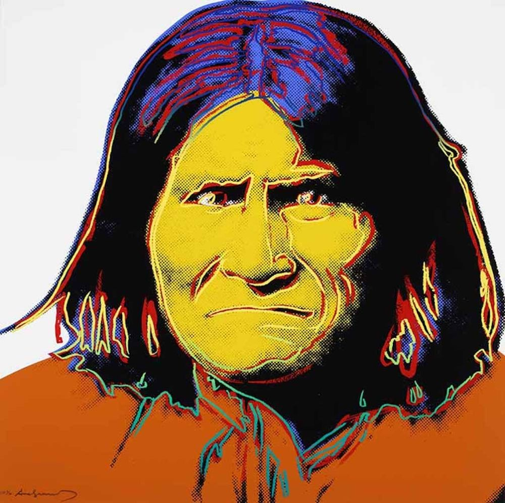 Serigrafia Warhol - Geronimo, from Cowboys and Indians