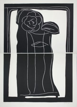 Linoincisione Hernandez Pijuan - Gerro Amb Flors / Vase With Flowers
