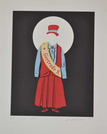 Litografia Indiana - Gertrude Stein - Mother of us all portfolio