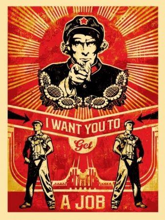 Serigrafia Fairey - Get a job