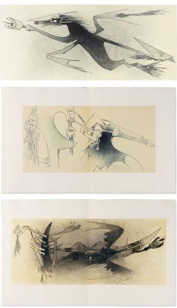 Libro Illustrato Lam - Ghérasim Luca : Apostroph'Apocalypse. 14 eaux-fortes de Wifredo Lam (1967).