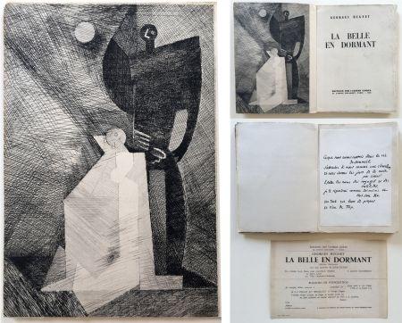 Libro Illustrato Marcoussis - G.Hugnet : LA BELLE EN DORMANT. 1 des 10 avec l'eau-forte de Marcoussis (1933).