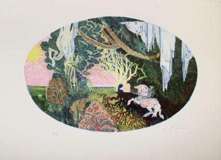 Litografia De Rosa - Giardino
