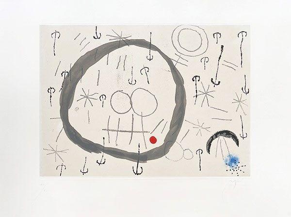 Incisione Miró - Giboulées