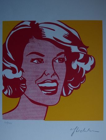 Serigrafia Lichtenstein - Girl