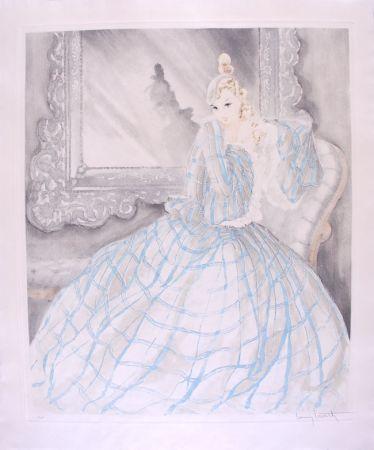 Acquaforte Icart - Girl in Crinoline - Miroir de Venise