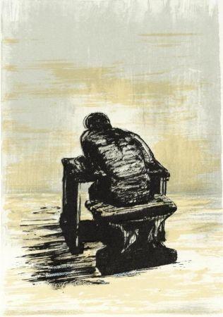 Litografia Moore - Girl Seated At Desk Ii