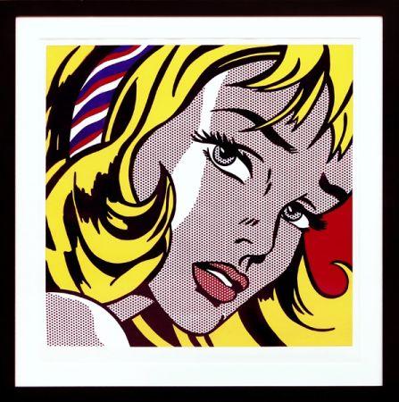 Serigrafia Lichtenstein - Girl with Hair Ribbon
