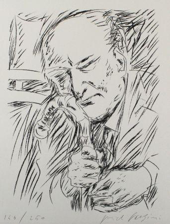 Litografia Fazzini - Giuseppe Ungaretti
