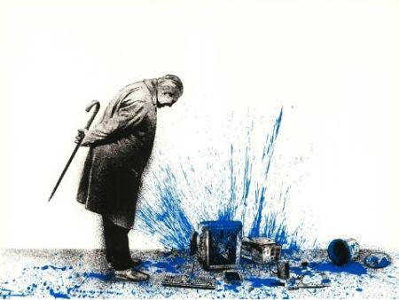 Serigrafia Mr Brainwash - Glitch - Blue, 2018