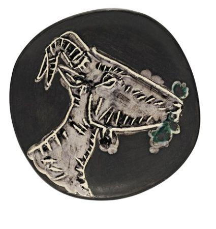 Ceramica Picasso - Goat's head in profile