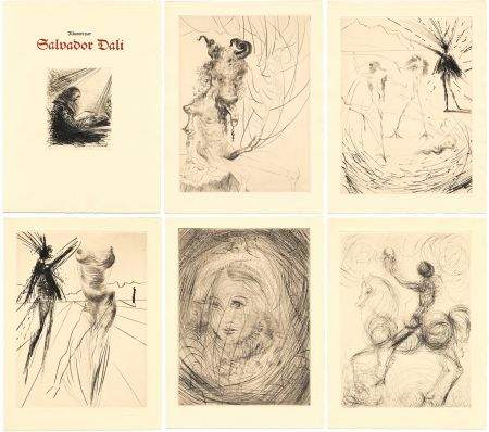 Libro Illustrato Dali - GOETHE : FAUST. 21 gravures de Salvador Dali (1969