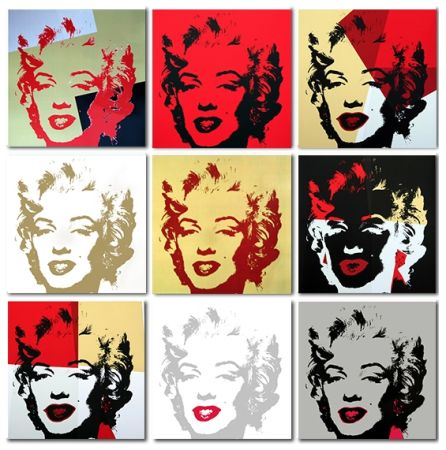 Serigrafia Warhol (After) - Golden Marilyn Monroe collection a set of 10