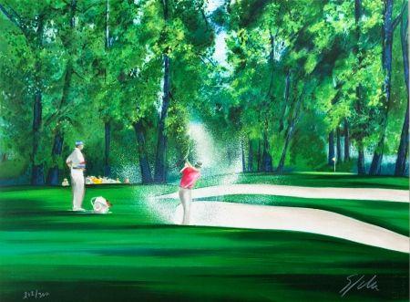 Litografia Spahn - Golf
