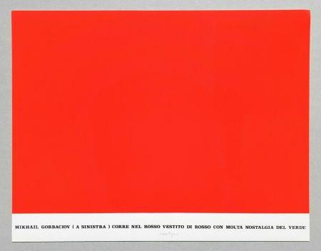 Serigrafia Isgro - Gorbaciov corre nel rosso (Storie rosse)