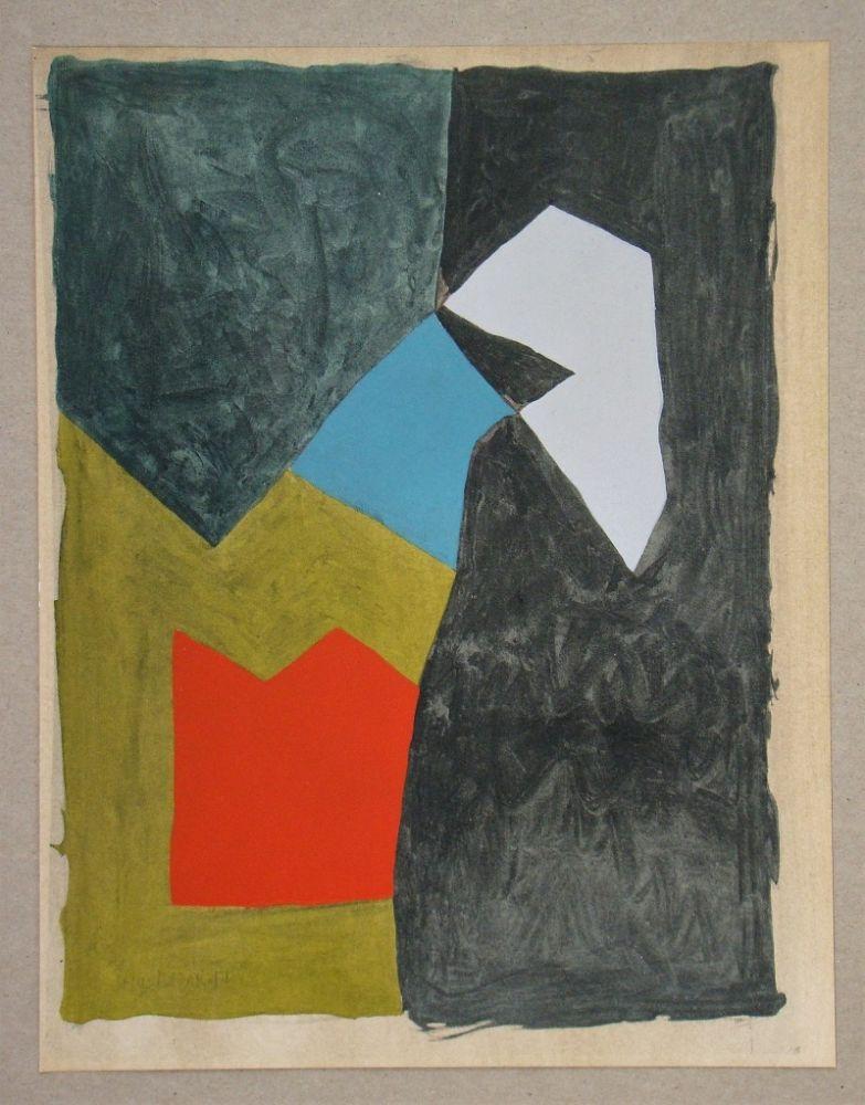 Pochoir Poliakoff - Gouache, 1955