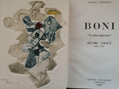Libro Illustrato Boni - Grafisculptures - Oeuvre gravé - 1957 - 1970