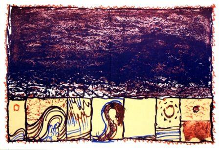 Litografia Alechinsky -   Grains Derriere le Miroir