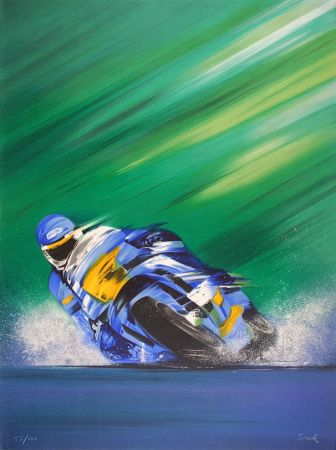 Litografia Spahn - Grand prix de Moto