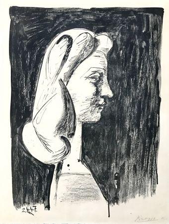 Litografia Picasso - Grand Profil  (Francoise Gilot)