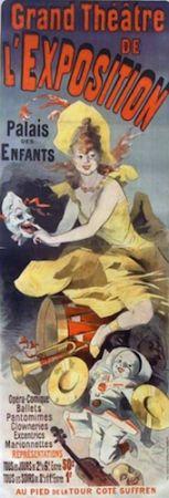 Litografia Cheret - Grand Theatre de l'Exposition