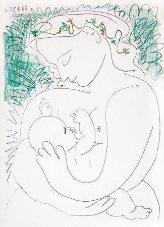 Litografia Picasso - Grande Maternité