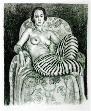 Litografia Matisse - Grande odalisque à la culotte bayadère