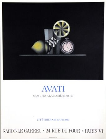 Offset Avati - Gravure à la Maniére Noire Galerie Sagot Le Garrec