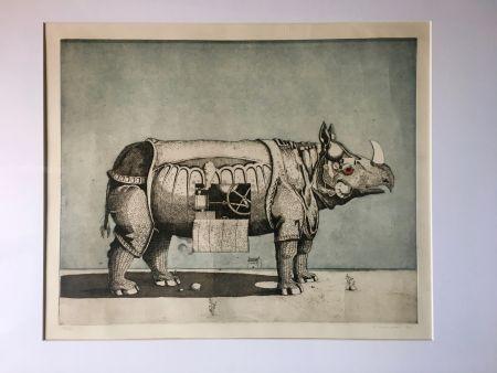 Acquatinta Meckseper - Gravure Aquatinte. Friedrich Meckseper
