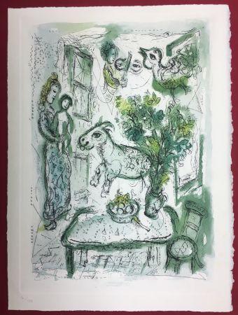 Acquaforte E Acquatinta Chagall - Gravure originale en couleur pour Life and Work (F. Meyer 1961)
