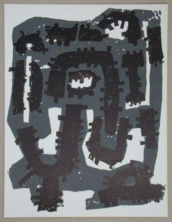 Litografia Ubac - Gravure sur ardoise pour XXe Siècle