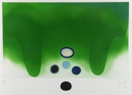 Acquatinta Pasmore - Green Darkness