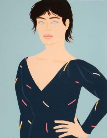 Litografia Katz - Grey Dress (Laura) Diane von Furstenberg Dress