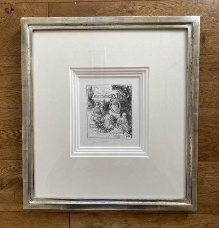 Litografia Pissarro - Group de paysans