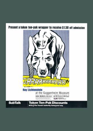 Litografia Lichtenstein - 'Grrrrrrrrrrr!!' Hand Signed Pop Art Poster Print