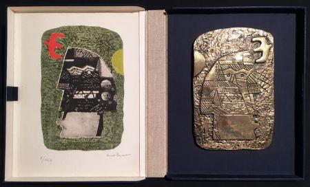 Multiplo Papart - GUERRIER. Un eau-forte signée et un bronze (1977).